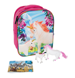 ANIMAL PLANET Mojo Unicorn Fantasy 3D Backpack Playset , Unisex, Three Years and Above, Multi-colour