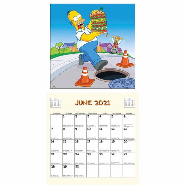 Official The Simpsons Calendar 2021: Buy Online on Offer