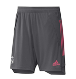 2020-2021 Real Madrid Adidas Training Shorts (Grey) - Kids