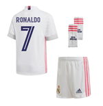 2020-2021 Real Madrid Adidas Home Full Kit (Kids) (RONALDO 7)