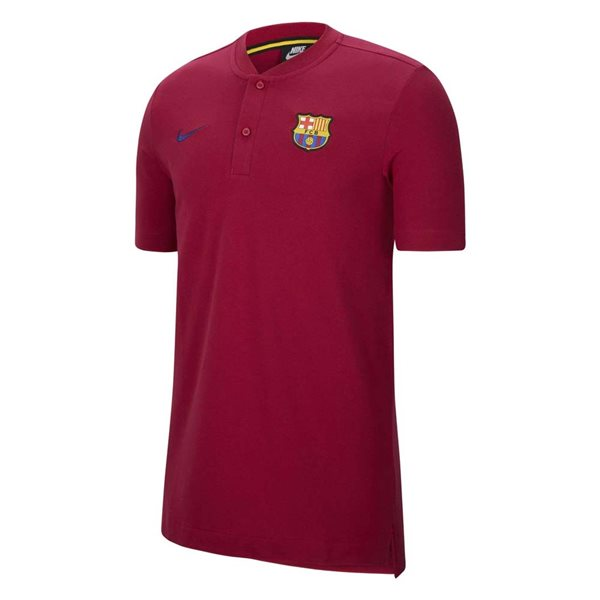 2020-2021 Barcelona Authentic Polo Shirt (Noble Red)