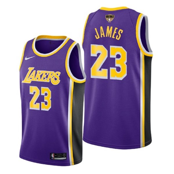 Men's Los Angeles Lakers Lebron James Nike Purple Statement Edition Swingman 2020 NBA Finals Jersey