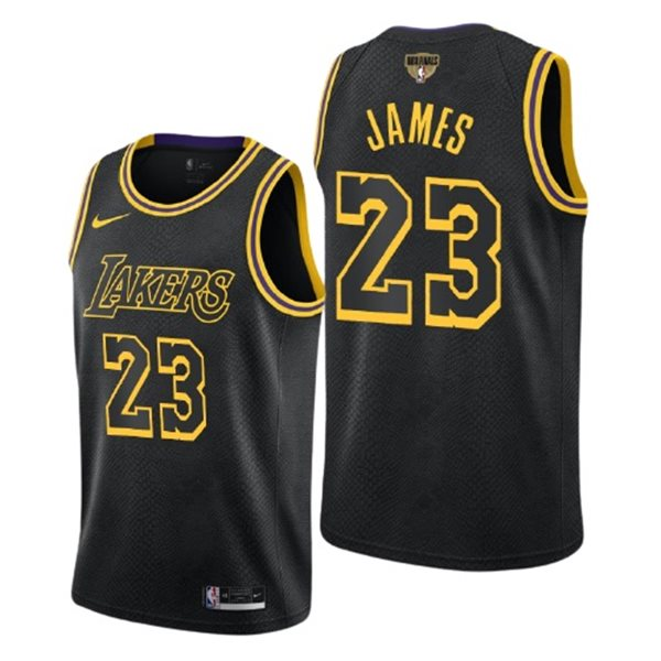 Men's Los Angeles Lakers Lebron James Nike Black City Edition Swingman 2020 NBA Finals Jersey