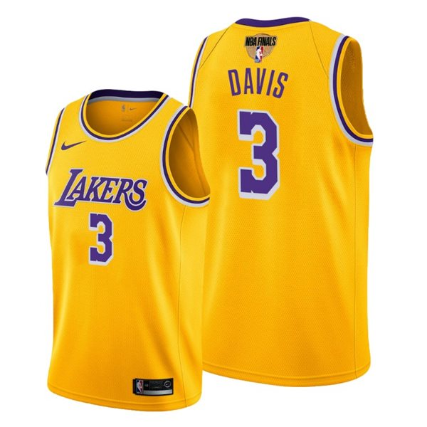 Men's Los Angeles Lakers Anthony Davis Nike Yellow Icon Edition Swingman 2020 NBA Finals Jersey