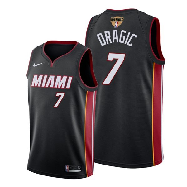 Men's Miami Heat Goran Dragic Nike Black Icon Edition Swingman 2020 NBA Finals Jersey