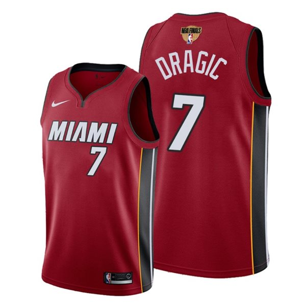 Men's Miami Heat Goran Dragic Nike Red Statement Edition Swingman 2020 NBA Finals Jersey