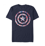Captain America Tie Dye Shield Symbol T-Shirt