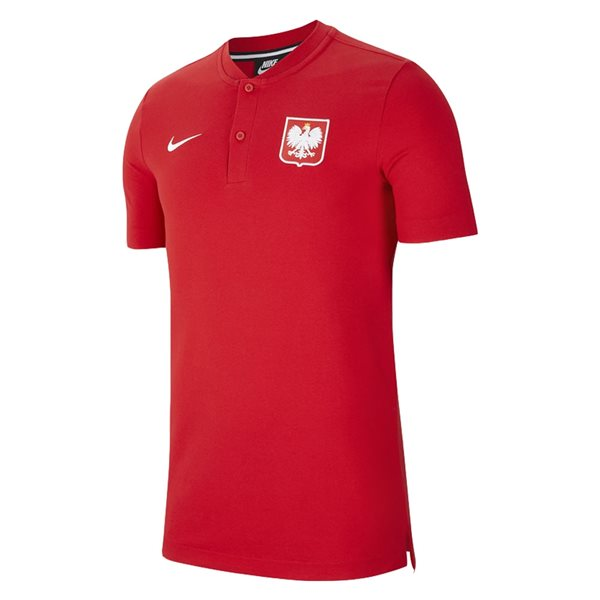 2020-2021 Poland Authentic Polo Shirt (Red)