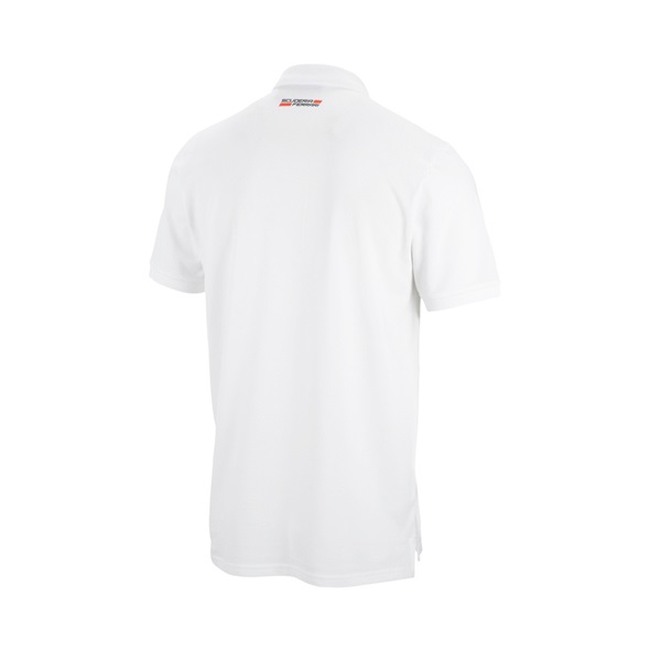 Mens Striped Polo White