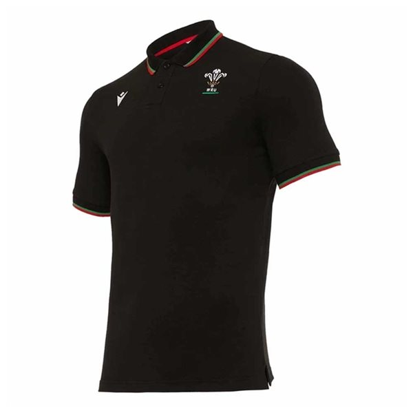 2020-2021 Wales Travel Tech Polo Shirt (Black)