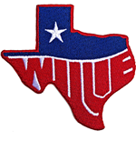 Willie Nelson Standard Patch: Texas