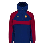2020-2021 Barcelona Re-Issue Hooded Jacket (Royal)