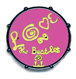 The Beatles Pin Badge: Drum Love