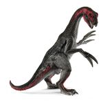 SCHLEICH Dinosaurs Therizinosaurus Toy Figure, 4 to 12 Years, Grey/Red