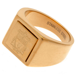 Liverpool FC Gold Plated Signet Ring Medium
