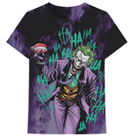 DC Comics Unisex Tee: Joker All Over Faded
