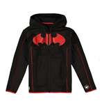 Batman Hooded Sweater Red Bat