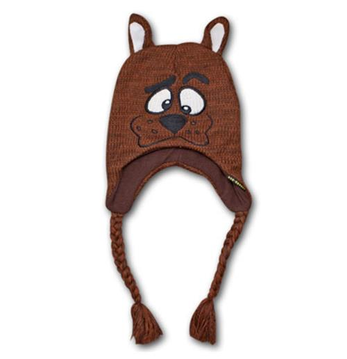 882dc0b67e1 Buy Official SCOOBY DOO Face Laplander Braids Knit Beanie Hat