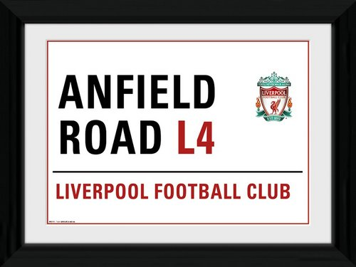 "Liverpool Anfield Street Sign Framed 16x12"" Photographic Print"