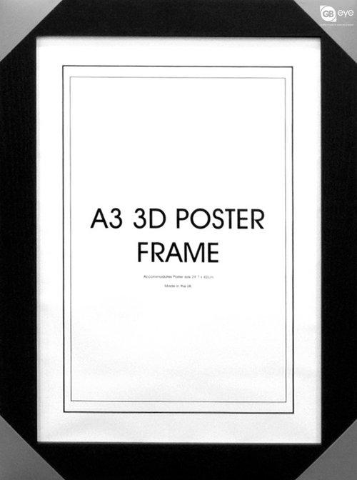 Black a3 3d poster frame