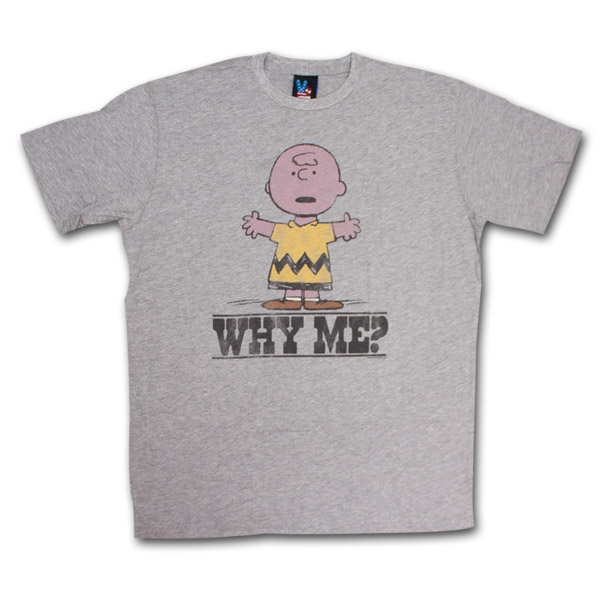 Buy Official Peanuts Charlie Brown Why Me Junk Food Retro Tee Shirt