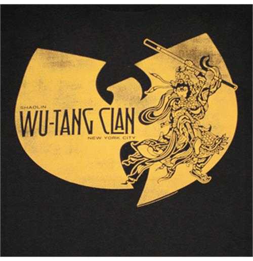 Buy Official Wu Tang Clan Shaolin Ninja Graphic Black Tee Shirt