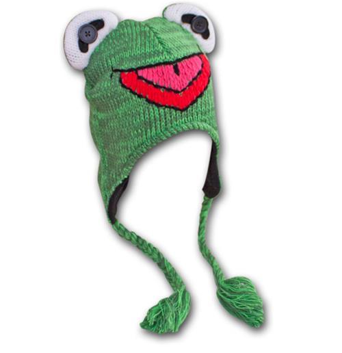 Buy MUPPETS Kermit The Frog Winter Beanie Laplander Costume Hat 77634c88161