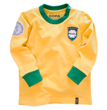 Brazil 'My First Football Shirt' Long Sleeve 90% organic cotton / 10% elasthan