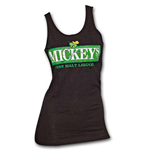 MICKEY'S Logo Black Womens Graphic Tank Top