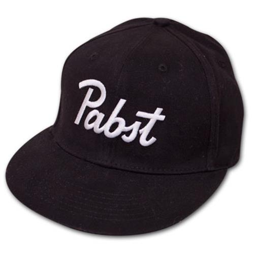 Buy Official Pabst Blue Ribbon PBR Embroidered Fitted Black Hat dd0b869bb71
