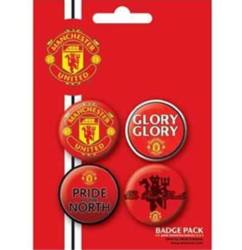 Manchester United-Glory Glory-Badge Pack