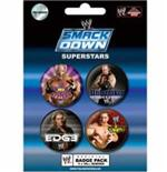 Wwe-Smack Down-Badge Pack