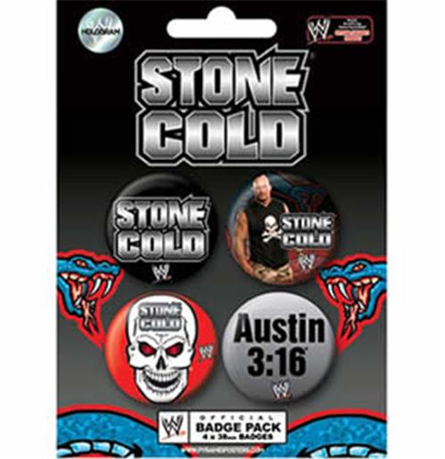 Wwe-Stone Cold-Badge Pack