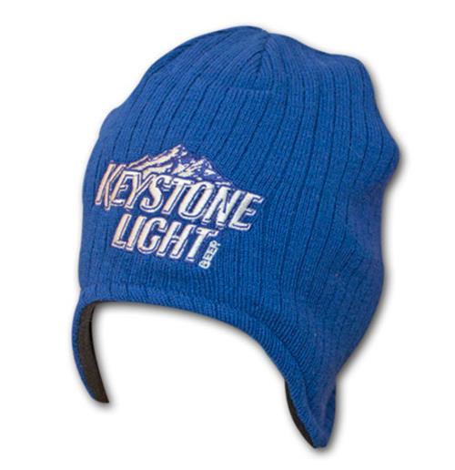 e77246a24b6 Buy Official KEYSTONE LIGHT Blue Breeze Beanie Knit Winter Hat
