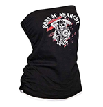 SONS OF ANARCHY Red Reaper Black Graphic Womens Tube Top