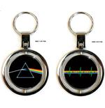 Keyring Pink Floyd - Metallo DSOTM+PULSE. Emi Music officially licensed product.