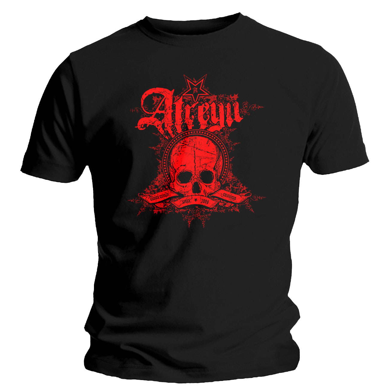 Atreyu T Shirt Skully. Emi Music officially licensed t-shirt.
