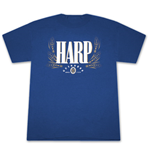 HARP LAGER Guinness 2-Sided Blue Graphic TShirt