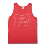 MILLER High Life Faded Logo Red Mens Tank Top