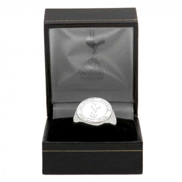 Tottenham Hotspur F.C. Silver Plated Crest Ring Medium