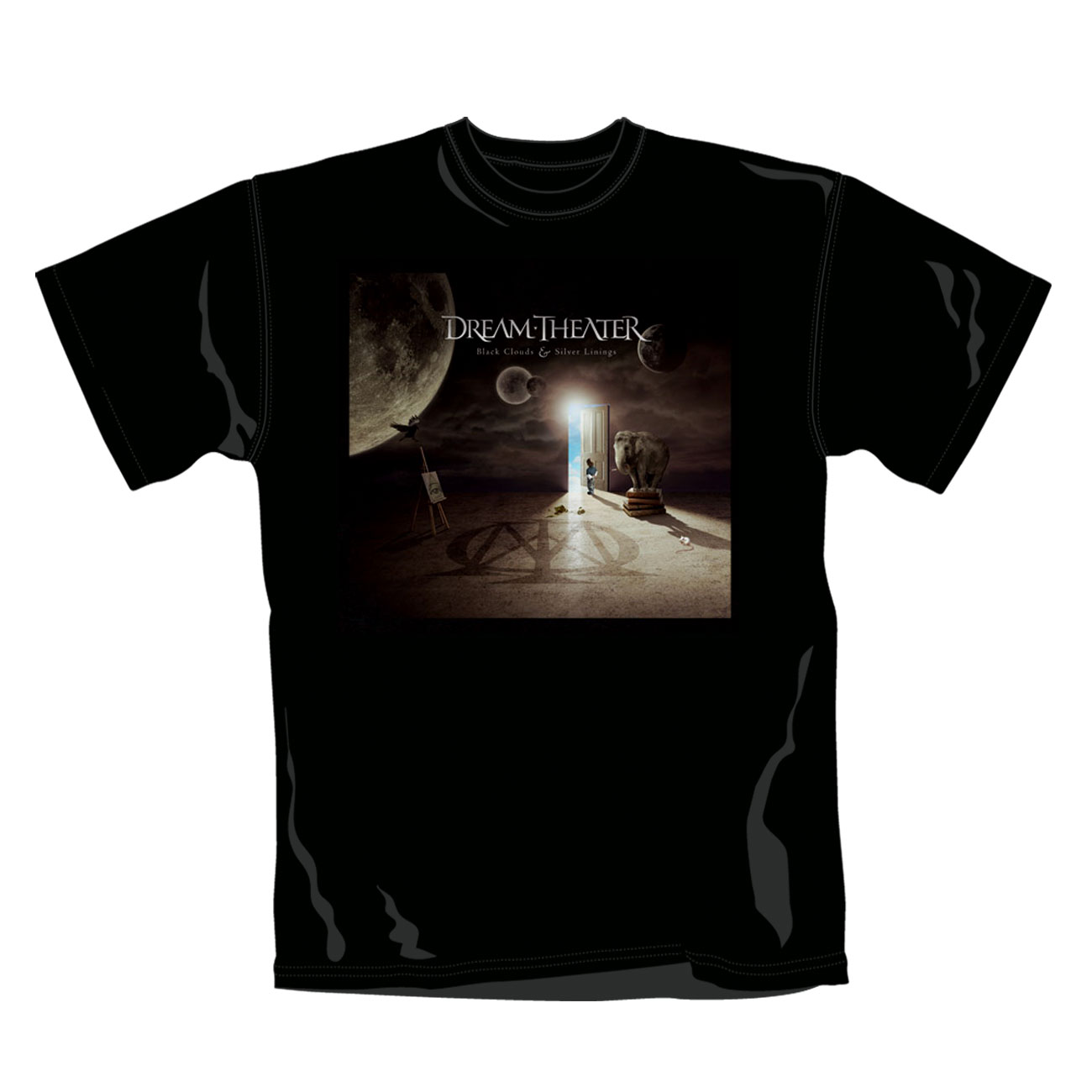 Dream Theater T Shirt Black Clouds. Emi Music officially licensed t-shirt.