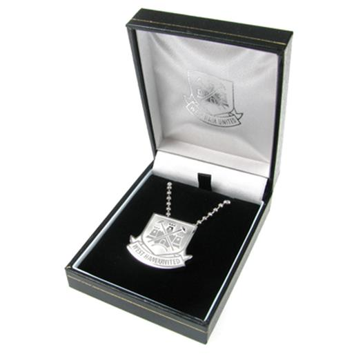 West Ham United F.C. Stainless Steel Pendant and Chain