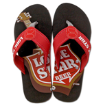 LONE STAR Beer Mens Beach Flip Flops Sandals