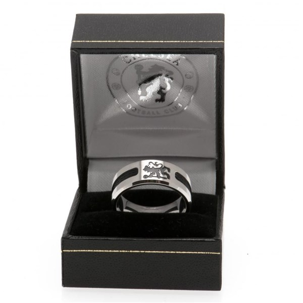 Chelsea F.C. Black Inlay Ring Small