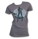 Catwoman Convicted Juniors T Shirt - Gray