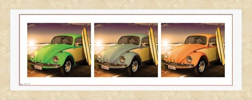 VW Californian Beetles (Beech) Framed Photographic Print