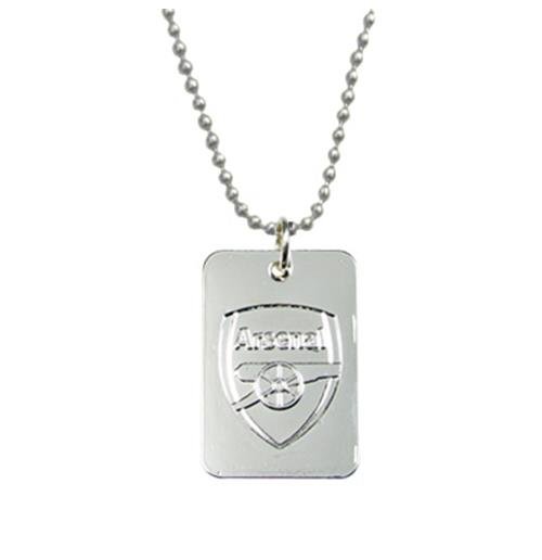 Arsenal F.C. Silver Plated Dog Tag and Chain