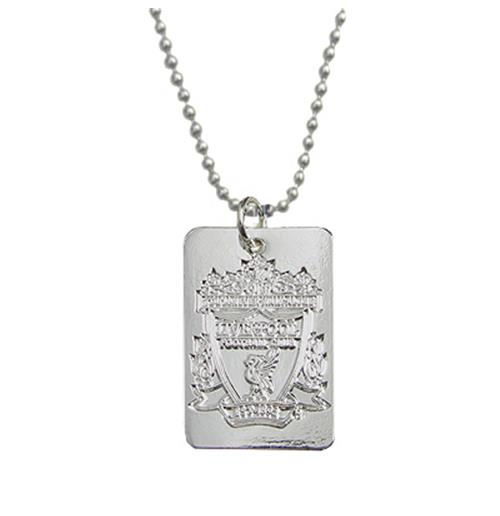Liverpool F.C. Silver Plated Dog Tag and Chain