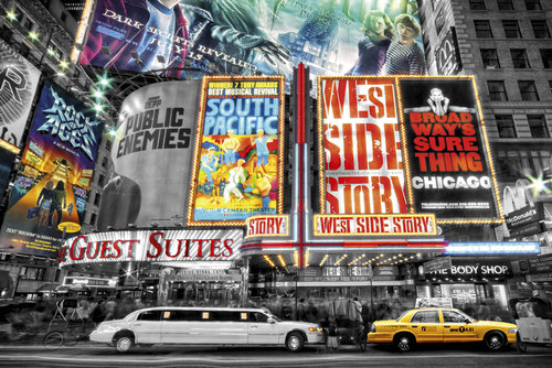 New York Theatre Signs Maxi Poster
