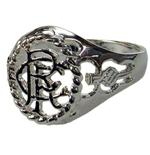 Rangers F.C. Silver Plated Crest Ring Medium